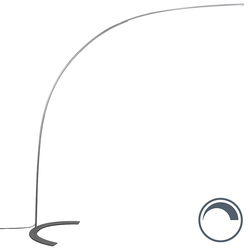 Design-Bogenlampe grau inkl. LED - Piegato