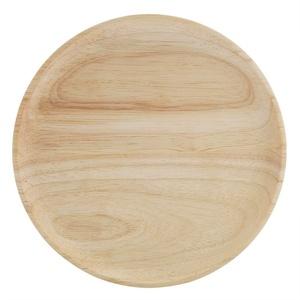 Rundes Holz Serviertablett, Kaffee Tee Tablett Sushi Snacks Obst Servierteller(12.5 * 12.5cm)