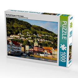 Die Stadt Bergen in Norwegen Lege-Größe 64 x 48 cm Foto-Puzzle Bild von Andrea Koch Puzzle