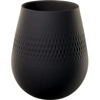 Villeroy & Boch 10-1682-5514 Vase Carré klein Collier Noir 14 cm