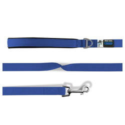 Curli Hundeleine Basic, Nylon blau M - 1 cm x 1.4 m