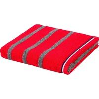 Handtuch 50 x 100 cm ketchup/grey gestreift