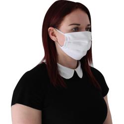 Behelfsmundschutz Mund- und Nasen-Maske aus Baumwolle genäht Made in EU Farbe: weiss