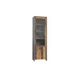 Forte Vitrine Clif in Old Wood Vintage-Optik