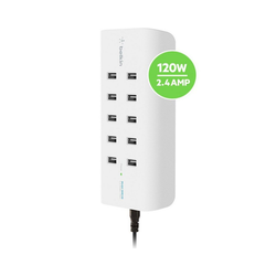 Belkin Lader 10-Port USB-Ladestation,120W, 2,4A pro Port weiß