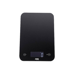 ADE Küchenwaage KE 926 - Slim, mit Sensor-Touch, 15 mm flach, grammgenau bis 5kg schwarz 15,1 cm x 23,2 cm x 1,5 cm