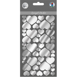 URSUS Sticker Spiegel Sticker Herzen