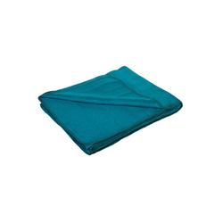 Wolldecke Flauschige Baumwolldecke - regional hergestellt, yogabox, sehr weich und kuschelig grün 150 cm x 200 cm