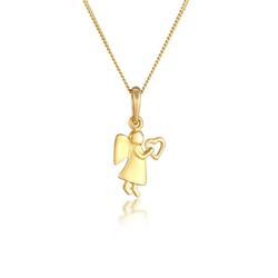 Elli Kette mit Anhänger Engel Herz Glücksbringer Symbol 925 Silber, Engel