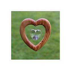 mitienda Fensterdekoration Fensterdeko Herz mit Bleikristall