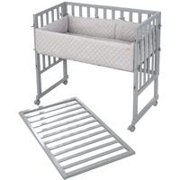 Roba 8961TP-8V230 Babybett MDF-Platten, Holz grau