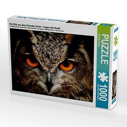 Ein Bild aus dem Kalender Eulen • Augen der Nacht Lege-Größe 64 x 48 cm Foto-Puzzle Bild von Elisabeth Stanzer Puzzle