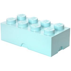 LEGO Aufbewahrungsstein, 8 Noppen, Stapelbare Aufbewahrungsbox, 12 l, mintgrün