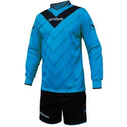 Givova Fußball Set Torwarttrikot mit Short Kit Sanchez hellblau/schwarz - XL