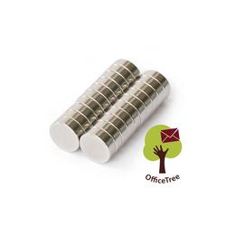OfficeTree Magnet 20 Neodym Magnete 8 x 3 mm, rund - extra stark