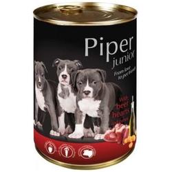 PIPER JUNIOR Rinderherzen & Karotte Nassfutter Hundefutter Dosen (0,400 kg)