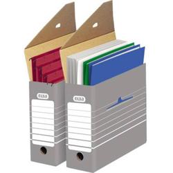 Elba Archivschachtel tric 9,5 x 26,5 x 34cm (B x H x T) DIN A4 mit Archivdruck Wellpappe