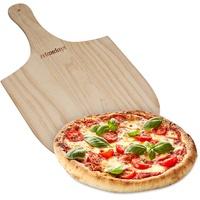 Relaxdays Pizzaschaufel Holz 54 cm x 30,5 cm