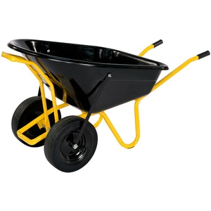 Doppelrad Schubkarre 160 l Twin Schubkarre Transporthilfe Transportgerät