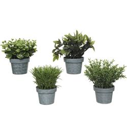 Kunstpflanze, Decoris season decorations, Kunstpflanze im Topf 13cm, 1 Stück sortiert