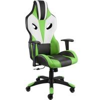 TecTake Premium Racing Bürostuhl Optimus schwarz/grün/weiß