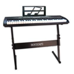 Bontempi Digitales Keyboard 61 Profi-Größe Tasten, schwarz