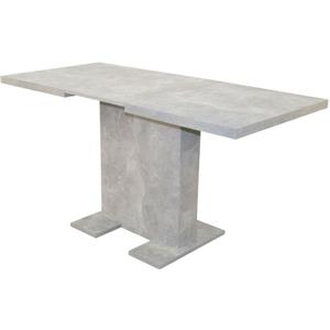 Auszugtisch 100-150 cm Betonoptik grau Esstisch Esszimmertisch ausziehbar NEU