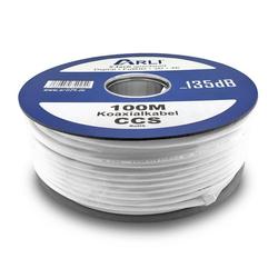 ARLI TV SAT Koax Kabel Koaxialkabel max. 135 dB TV-Kabel, (10000 cm), 100 m / 100m 10000 cm