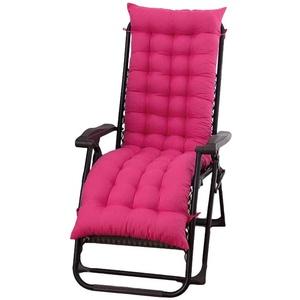 MAODOU Auflage für Deckchair, Sonnenliege Kissen Kissen für Sonnenliege, für Gartenstuhl & Gartenliege, Gartenstuhl Rose Red 155x48x8cm