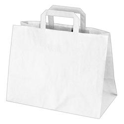 GASTRO Papiertragetaschen 27 x 32 x 16 cm mit EAN-Code weiß, 250 Stk.