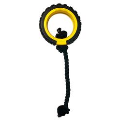 Tonka Hundespielzeug Mega Reifen mit Seil