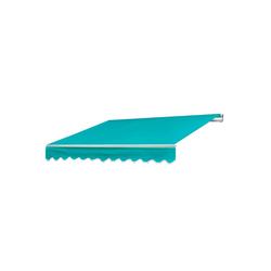 MCW Gelenkarmmarkise MCW-E31 Inklusive Volant, UV-Schutz 50 blau
