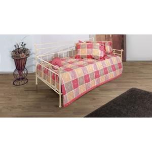 Tagesbett Metall ausziehbar Plata - 80x200 cm - creme