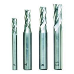 Proxxon Schaftfräsersatz, 4-tlg., DIN 844, HSS (6 - 7 - 8 - 10 mm)