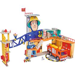 SIMBA Spielzeug-Feuerwehr Feuerwehrmann Sam Mega Feuerwehrstation XXL, mit Licht und Sound bunt Kinder Weitere Spielzeugautos Autos, Eisenbahn Modellbau