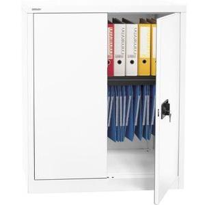 Bisley Aktenschrank E402A01, aus Metall, abschließbar, 91,4 x 100 x 40 cm, weiß