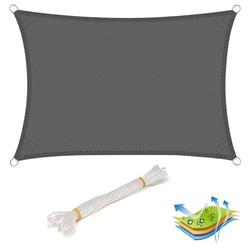 Woltu Sonnensegel, wasserabweisend Sonnenschutz,Polyester grau 300 cm x 400 cm