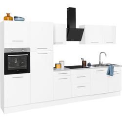 wiho Küchen Küchenzeile Ela, ohne E-Geräte, Breite 340 cm weiß