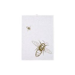 Hamburger Weihnachtskontor Geschirrtuch Geschirrtuch - Biene messing weiß