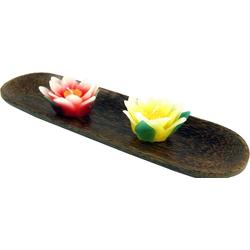Guru-Shop Dekoschale Schale aus Kokosholz, Kokosschale oval - Design 2 30 cm x 2 cm x 9 cm