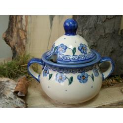 Zuckerdose, 2. Wahl, Bunzlauer Keramik, Unikat BSN 6703