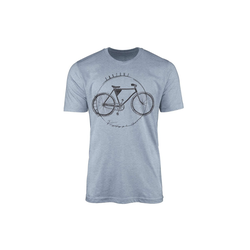 Sinus Art T-Shirt Vintage Herren T-Shirt Fahrrad blau XXL