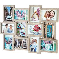 Wandgalerie Bilderrahmen 12 Fotos 10x15 cm braun  Erwachsene