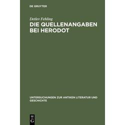Die Quellenangaben bei Herodot als Buch von Detlev Fehling