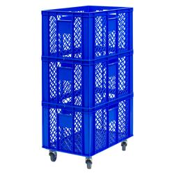 Fahrbarer Aufbewahrungskorb, 60 x 40 x 106 cm 60 cm, Kunststoff, 40 cm