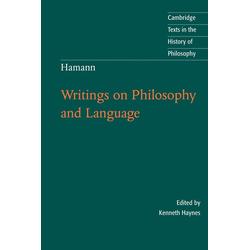 Hamann als Buch von Johann Georg Hamann
