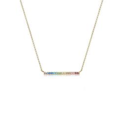 Elli Collierkettchen Geo Regenbogen Kristalle 925 Silber