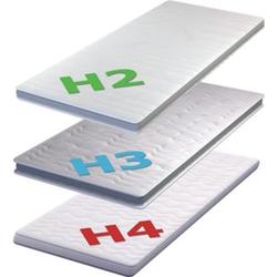 Kaltschaum Topper H2 H3 H4 Matratzentopper Auflage Matratzenauflage... 200 x 200 cm, Sehr Hart (H4)