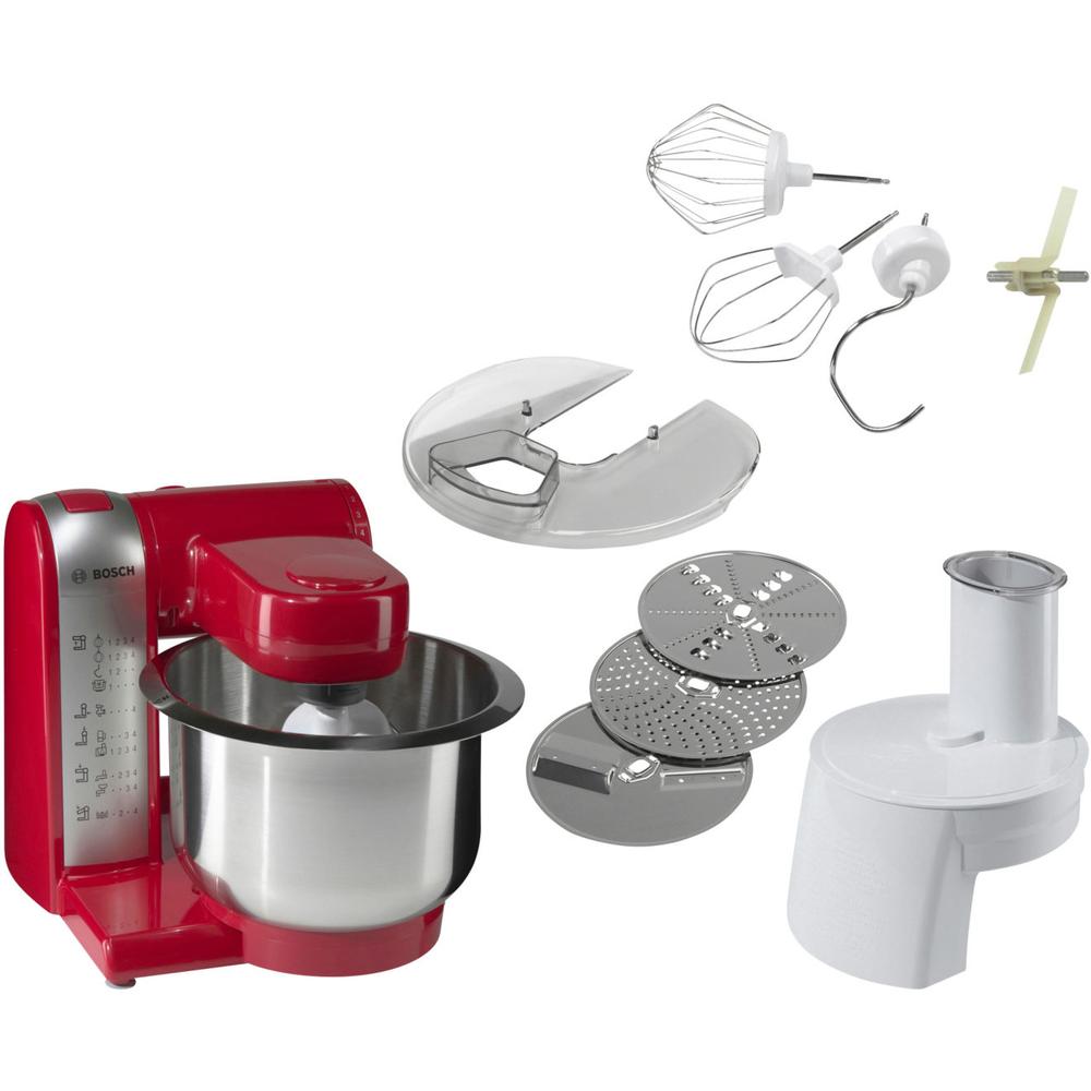 Küchenmaschine Bosch MUM48R1 Küchenmaschine rot//silber