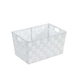 WENKO Adria S Aufbewahrungskorb, Kunststoffgeflecht,  Maße: 30 x 15 x 20 cm, Farbe: Weiß
